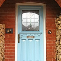Wooden front doors in the 1920s and 1930s style