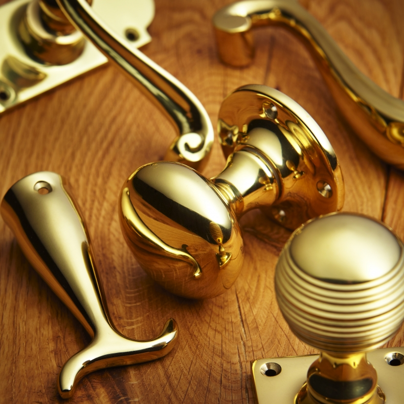Polished Brass Door Furniture