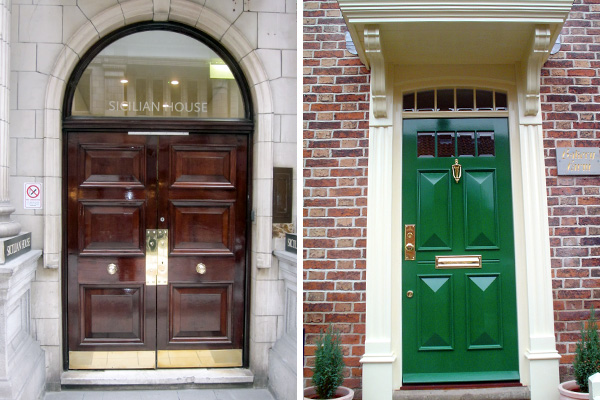 one example of our handmade Georgian entrance doors