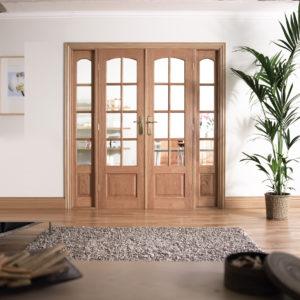 W6 Oak French Doors