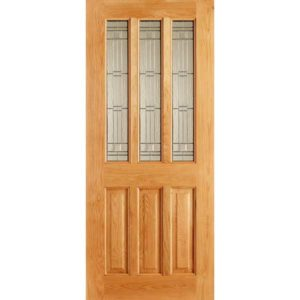 Chateaux elegance oak front door