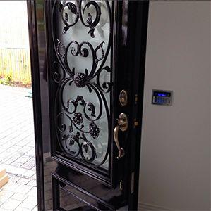 Georgian door with ornate grilles