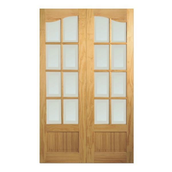 Durban pine double doors