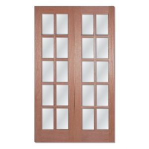 GTPSA glazed hardwood double doors