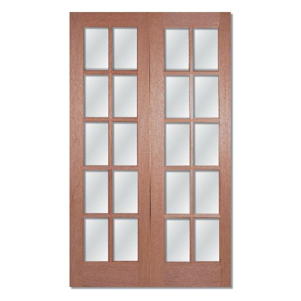 GTPSA glazed hardwood double doors