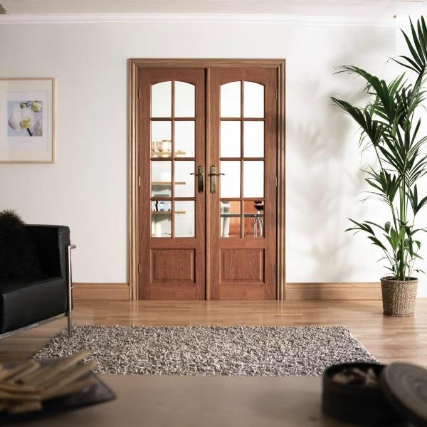 W4 Hardwood Double Doors