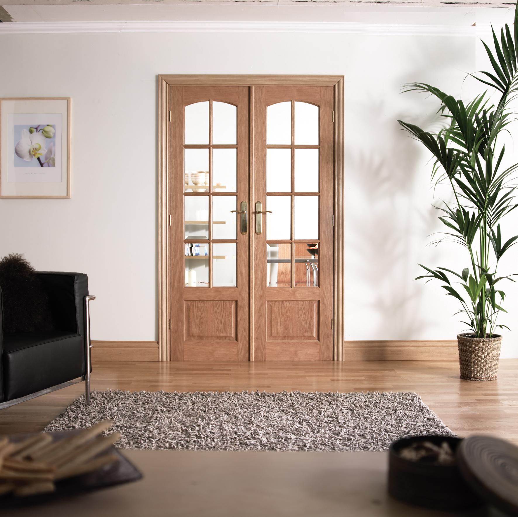 W4 Oak Double Doors