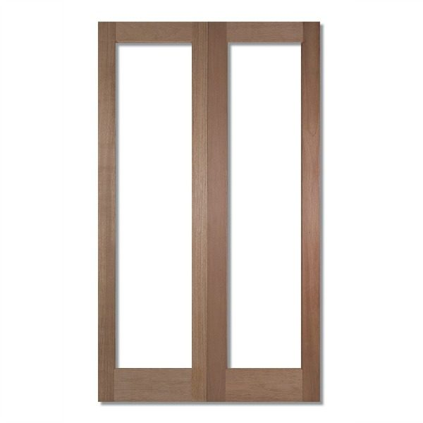 Unglazed double doors