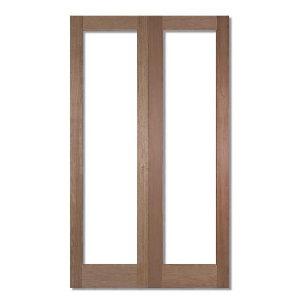 Unglazed double doors